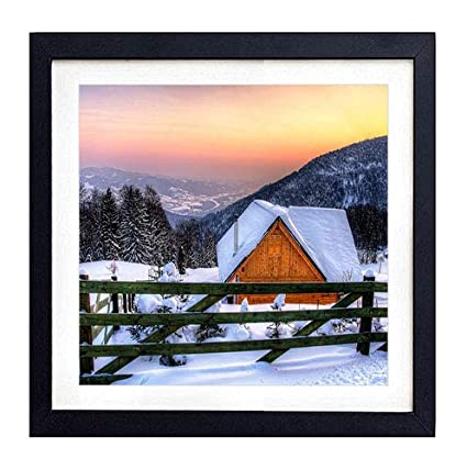 Amazon Com Glitzfas Prints Framed Wall Art House Fence Wooden