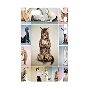 Yoga Cats Brand New 3D Cover Case for Iphone 5,5S,diy case cover ygtg573617