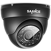 SANNCE Security Cameras,720P HD Cameras 1.0MP 1/4 color CMOS Sensor, 24 LED Black infrared light, IP66 waterproof in / outdoor fixed surveillance cameras