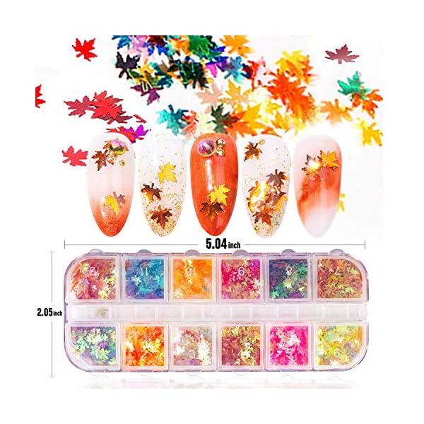 JOYJULY Nail Art Decoration Kits, 1 Box Butterfly Nail Glitter Sequins, 4 Boxes Nails Rhinestones and 3D Nail Sequins…