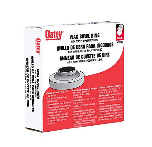 Oatey 31194 Heavy Duty Wax Bowl Ring with Sleeve Wax Gasket