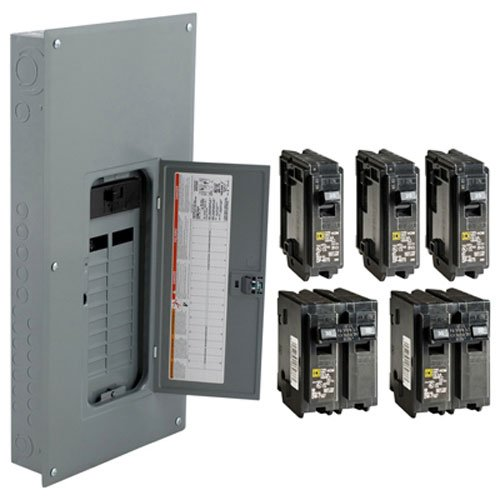 Square D by Schneider Electric HOM2040M200PCVP Homeline 200-Amp 20-Space 40-Circuit Indoor Main Breaker Load Center Value Pack, Plug-on Neutral Ready