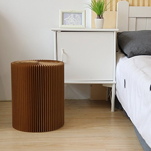 Cheap Modern Paper Furniture Multifunctional Foldable Protable Kraft Paper Stool Cardboard Chair Set With Felt Pad For Home,Party,Meeting and Outdoors Brown (Big Size 38X30cm)
