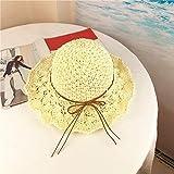 Xixihaha Summer Beach Sun Hats for Women Girls Foldable Floppy Summer Straw Hat Wide Brim Hat UV Protection