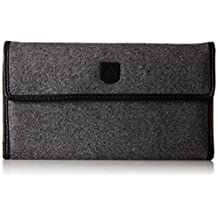 BURTON Women's Tri Fold Wallet, Grey Wool