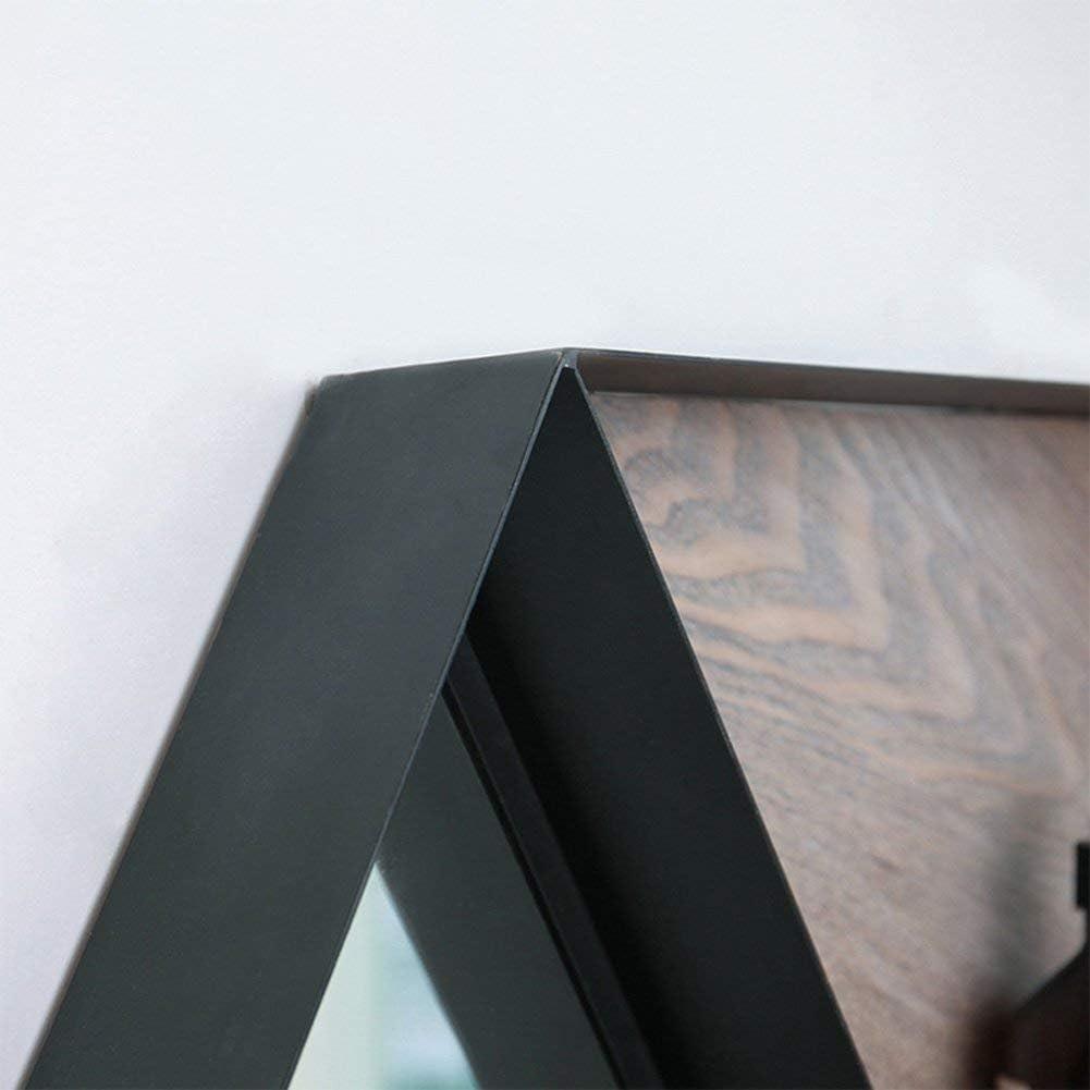 SHELF Cocina Baño Inodoro Ducha Estante Bastidor de pared Ángulo Marco frontal Espejo Espejo de almacenamiento multifunción Vintage, simple, negro, pintura de hierro 69 * 8 * 60 cm Anillos de toalla