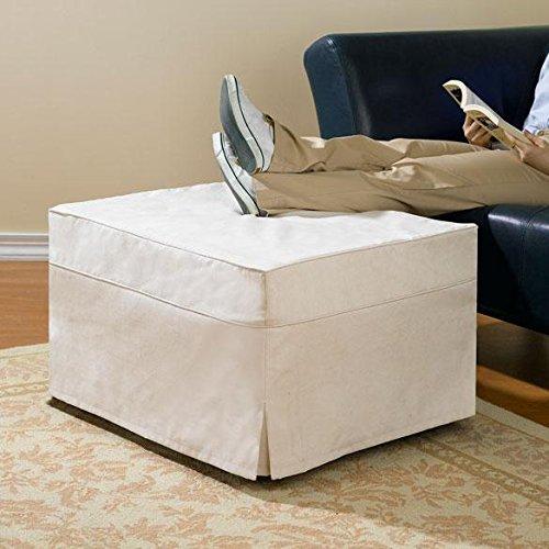 Ottoman Guest Bed Slipcovers - Denim Slipcover