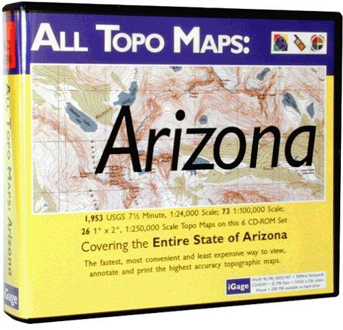 (iGage All Topo Maps Arizona Map CD-ROM (Windows))