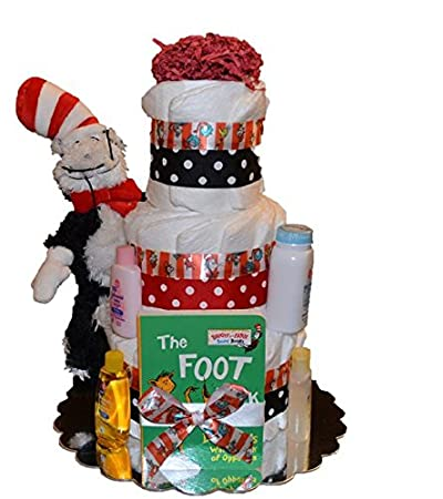 Amazon The Cat In The Hat Diaper Cake Dr Seuss Diaper Cake