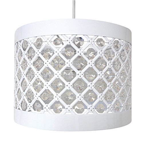 Moda sparkly ceiling pendant light shade fitting silver amazon moda sparkly ceiling pendant light shade fitting metal white mozeypictures Choice Image