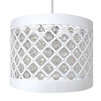 Moda Sparkly Ceiling Pendant Light Shade Fitting Plastic/Metal White  sc 1 st  Amazon UK & Moda Sparkly Ceiling Pendant Light Shade Fitting Plastic/Metal ... azcodes.com