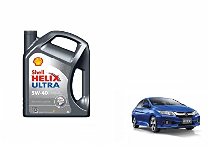 Shell Helix Ultra 5W-40 Synthetic Car Petrol Engine Oil 4 Litre-Honda City  Type 5