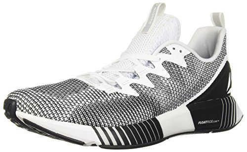 Reebok Men's Fusion Flexweave Running Shoe, White/Skull Grey/Black, 10 M US