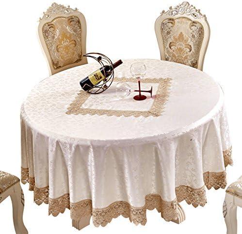 adasmile hecho a mano tela de encaje ganchillo patrones fiesta boda redondo Mantel funda para mesa: Amazon.es: Hogar