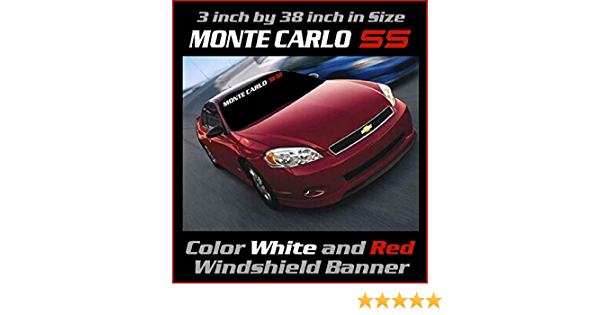 3.5 inch by 38 inch Different Colors Monte Carlo SS Windshield Banner Graphic Emblem Decal Sticker