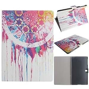 MOFY- pintura al —leo patr—n campanas e—lica cuero de la PU caso de cuerpo completo con la tarjeta para samsung galaxy tab 10.5 s t800
