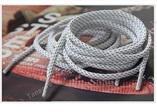 Maki Shoelaces 140cm 55'' 3M Reflective Rope Lace Shoelaces for Lebron XI lbj jordan X Kobe (White) (Lebron Shoe Laces compare prices)