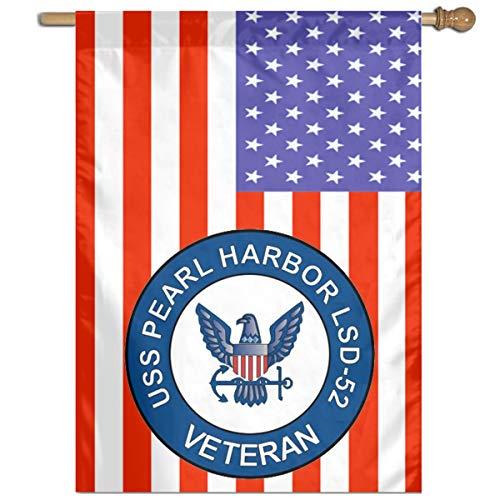 DAHWY USS Pearl Harbor LSD-52 Veteran Garden Or Family Flag 27