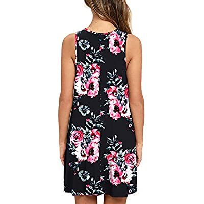 WEACZZY Women Summer Casual Swing T Shirt Dresses Beach Cover up Loose Dress at Women's Clothing store