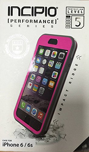 iPhone 6S Case, iPhone 6 Case, Incipio iPhone 6S / 6 Case [Performance Series: Level 5] Shockproof Ultra Rugged Protective Tough Shock and Impact Absorption + Scratch Resistant Cover - Pink/Gray