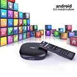 M9C Pro Android TV Box 6.0 4K Amlogic S905X Chipset-Quad Core Support Ultra-Fast Smart TV Box (Black 1G + 8GB)