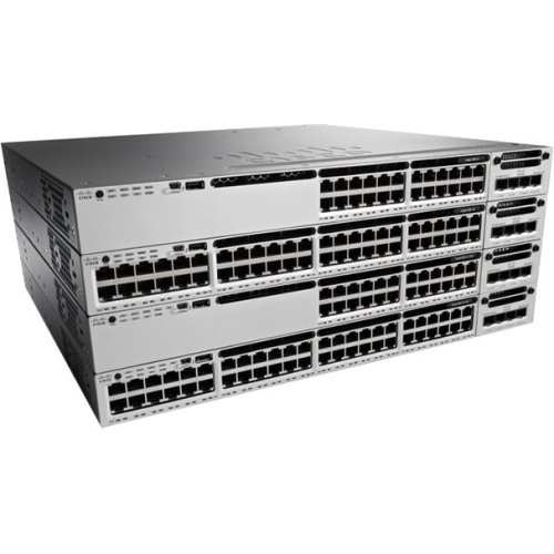 Cisco Catalyst 3850 48 Port Full Poe W/ 5 Ap License Ip Base . 48 Ports . Manageable . 48 X Poe+ . Stack Port . 1 X Expansion Slots . 10/100/1000Base. T . Rack. Mountable ''Product Type: Routing/Switching Devices/Switches & Bridges'' by OEM (Image #1)