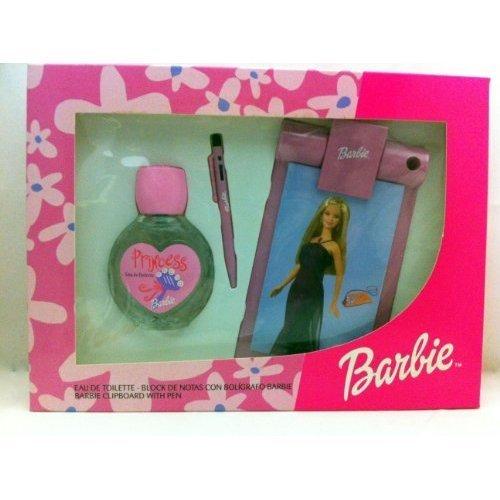 Barbie Princess perfume gift set 2.5 oz / 75 ml EDT Spray +Barbie Clipboard with pen by Barbie