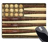 Wknoon Baseball Mouse Pad, Vintage Wood American Flag Mouse Pads Retro Mat