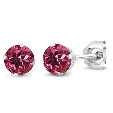 cut trillion stud solitaire earrings p trillioncut white gold tourmaline v in