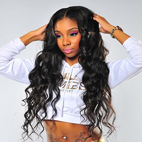 Prime Kitty 150% Density Body Wave Glueless Full Lace Wigs Brazilian Virgin Human Hair Loose Curly Natural Hairline for Black Women 24
