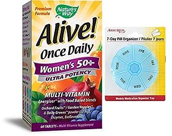 Manera de la naturaleza viva! 50 potencia Ultra multi vitaminas de las mujeres una vez