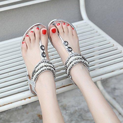 La Bohme Plage Chaussures Corenne Version Sandales Loisirs De 2018 Femmes Nouvelle Avec Sauvages 37 Confortables Perles Rn4wS