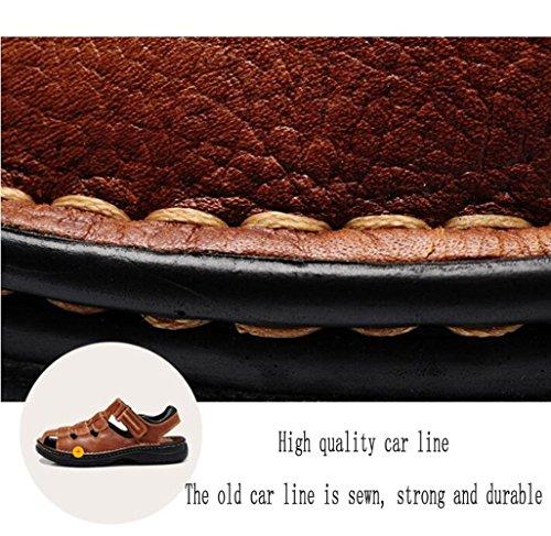 De Los Gran Sandalias Sandalias Transpirable Tamaño De De Casuales Hombres Senderismo Playa Baotou De Cuero Black Verano Sandalias De 5dwaw