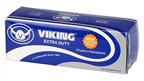 Viking Sports Extra Duty Platform Tennis Ball, Orange (Sleeve of 3)