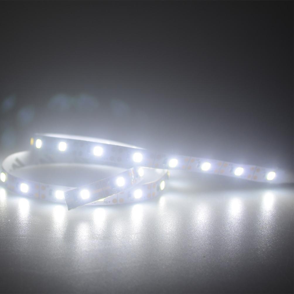 Hot Sale! Hongxin 5V 2835 30SMD/50CM RGB LED Strip Light Red Green Blue Warm White Cool White Flexible SMD 2835 LED Diode Ribbon Tape Lamp Home Bar Hotel Decor (White)