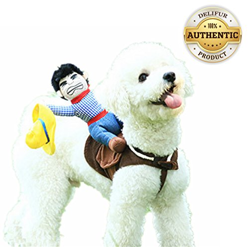 Dog Costume Pet Costume Pet Suit Cowboy Rider Style (Medium)]()