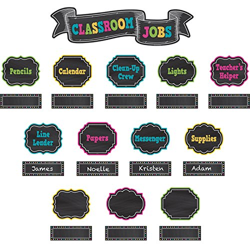 Helping Hands Pocket Chart - Teacher Created Resources Chalkboard Brights Classroom Jobs Mini Bulletin Board