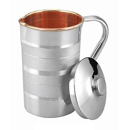 Xtrandz Luxury Steel Copper Water Jug/Pitcher  1.5 Litre  1500ml