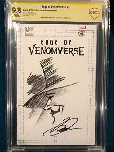 DAVID LLOYD ORIGINAL Sketch Art CBCS 9.8 Signed V FOR VENDETTA COMIC not CGC (Art Book Comic Original)