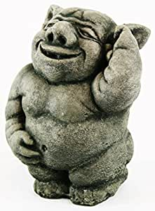 Happy Ogre hormigón Estatua Jardín Troll Escultura