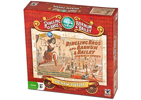 Ringling Bros. And Barnum & Bailey® 1000 Piece Puzzle - Vintage Poster Edition - Trapeze -
