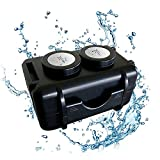 Monster Magnetics MiniMag 2 Dual Magnet Waterproof Personal GPS Car Tracker Magnetic Case - Geocache Supplies Container, Under Vehicle Hidden Stash Box, Hide A Key - Powerful Neodymium Ndfeb Mount
