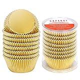 Caperci Standard Cupcake Liners Gold Foil Muffin