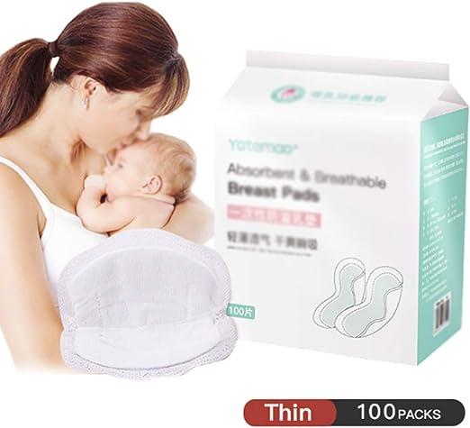 BingWS Almohadillas de Lactancia Desechables de algodón 100PCS ...