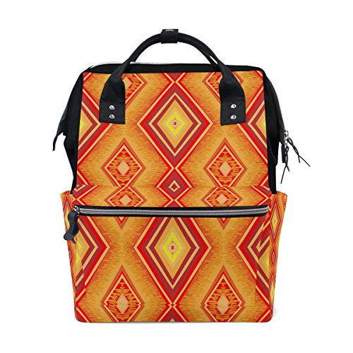 Backpack School Bag Africa Art Canvas Travel Doctor Style Daypack by WIHVE