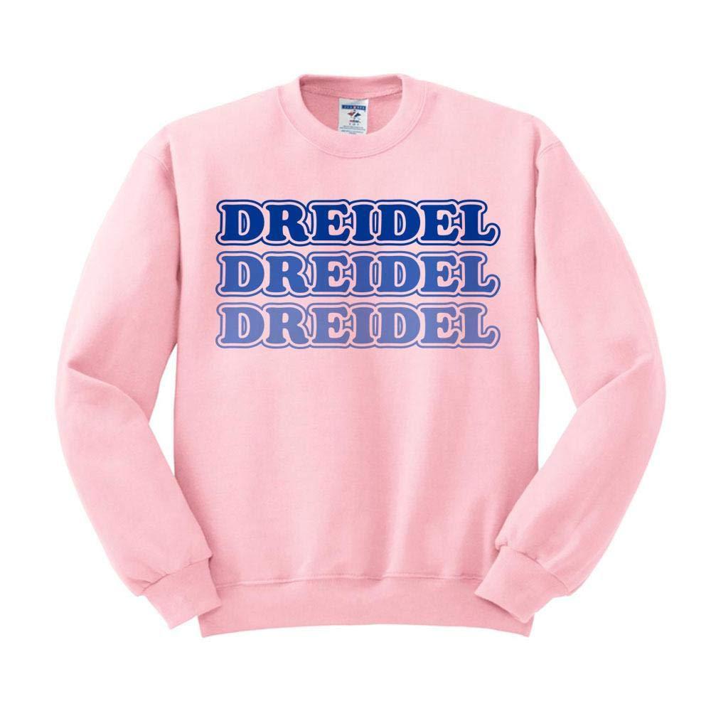 TeesAndTankYou Dreidel Dreidel Dreidel Sweatshirt Unisex 4X-Large Pink
