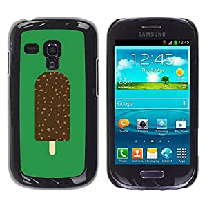 Shell-Star Arte & diseño plástico duro Fundas Cover Cubre Hard Case Cover para Samsung Galaxy S3 III MINI (NOT REGULAR!) / I8190 / I8190N ( Ice Cream Green Chocolate Sweet )