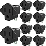 3 Prong to 2 Prong Grounding Adapter Wall Outlet