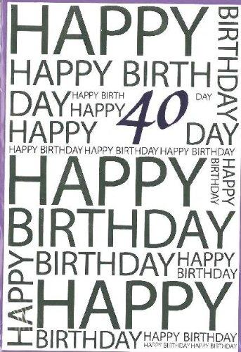 Tarjeta cumpleaños número 40: Amazon.es: Oficina y papelería