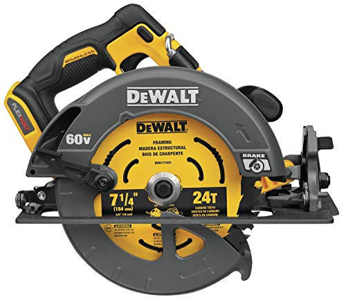 DEWALT FLEXVOLT 60V MAX Circular Saw with Brake, 7-1/4-Inch, Tool Only (DCS578B)